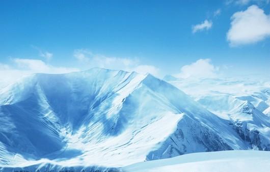 Фотообои Заснеженные горы