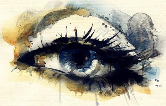 Арт синий глаз