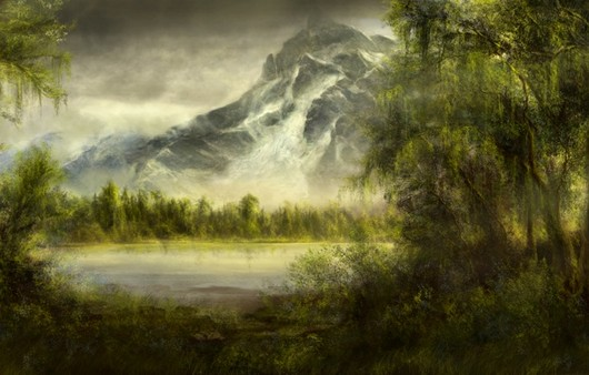 Арт живопись с горой