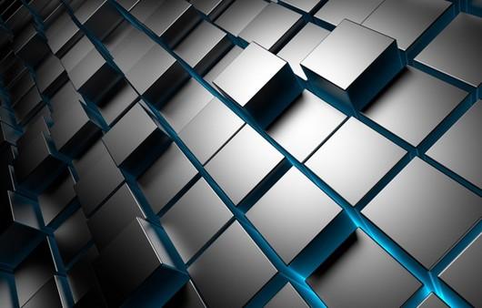 Металлические кубы в 3Д