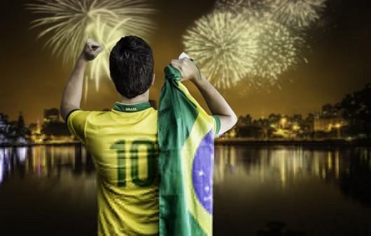 Фотообои Болельщик Бразилии