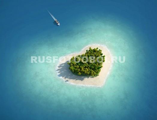 Фотообои Остров сердце