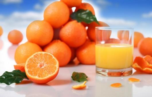 Фотообои Апельсиновый сок с круассаном