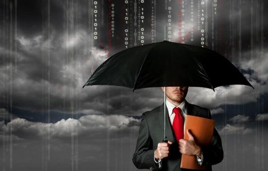 Фотообои Мужчина в костюме с зонтом