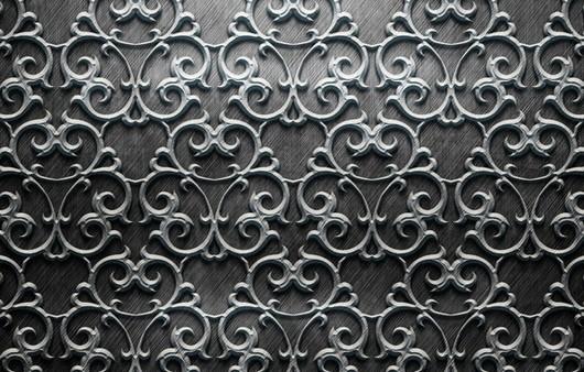 Металлическая текстура с узорами