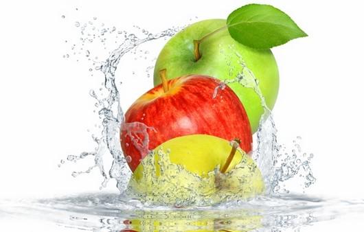 Фотообои Яблоки в воде