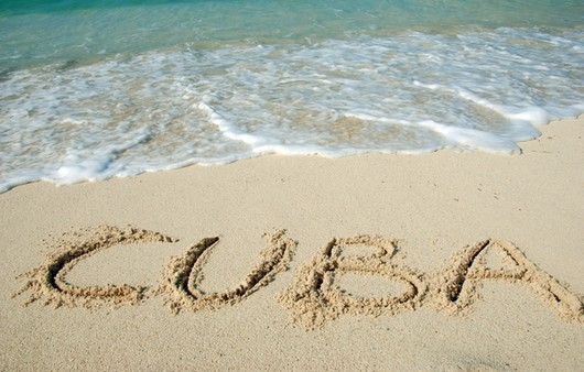 Фотообои Надпись Куба на пляже