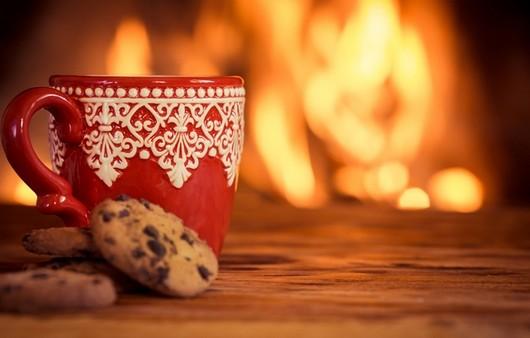Кофе с печеньем у костра