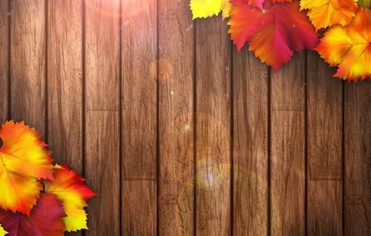 Текстура с осенними листьями