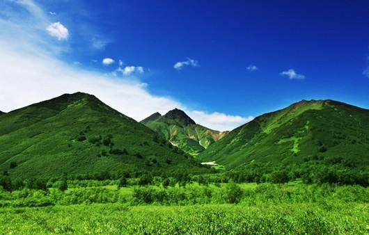 Фотообои Пейзаж с горным массивом