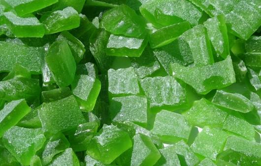 Фотообои Зеленые мармеладные кусочки