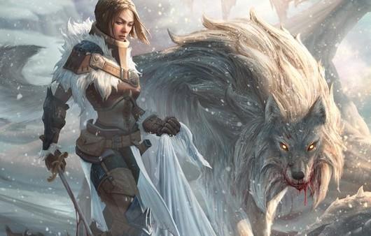 Девушка и хищный зверь