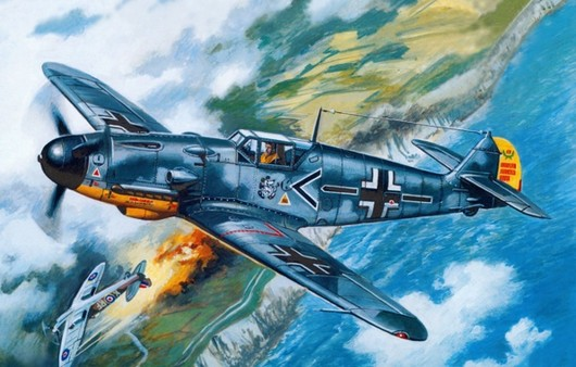 Немецкий самолет в небе