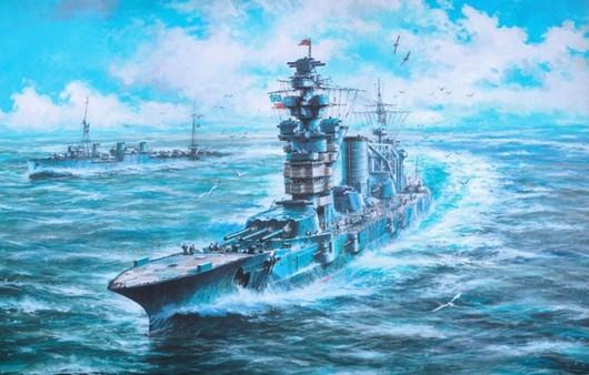 Авианосец в море