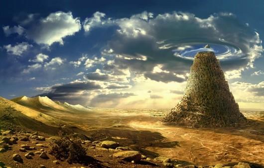 Каменная башня в пустыне