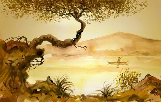 Фотообои Живописная река