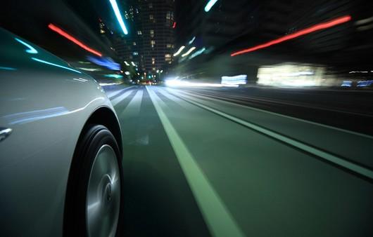 Движение машин на большой выдержке