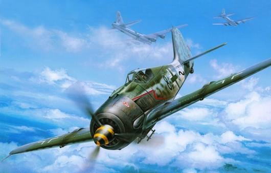 Немецкий истребитель в воздухе