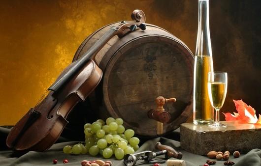 Фотообои Бочонок с вином