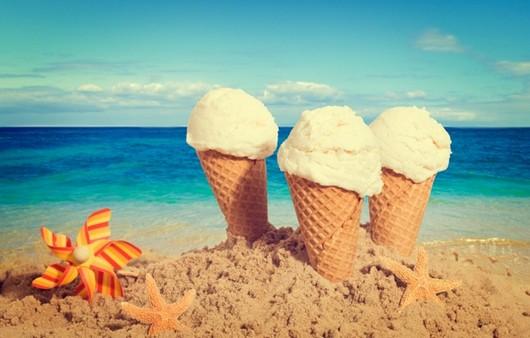 Мороженое в песке