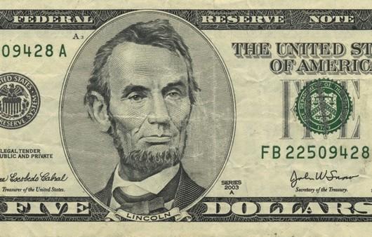 Фотообои Доллар с изображением Линкольна