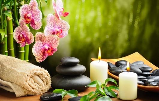 Ароматические свечи и спа-камни