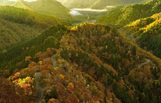 Фотообои Пейзаж с горными массивами