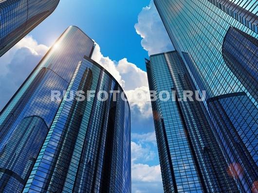 Верхушки небоскребов