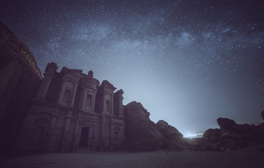 Звездное небо в Иордании