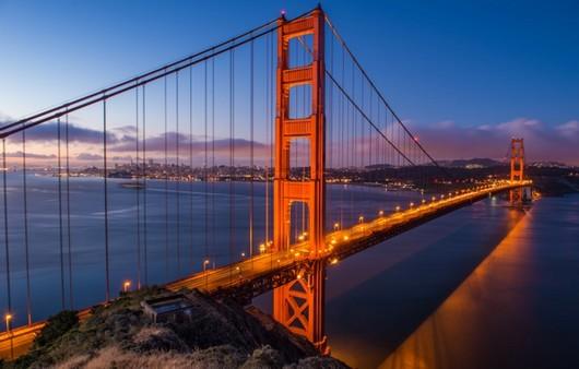Фотообои Мост Золотые ворота в Калифорнии