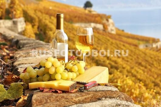 Фотообои Белое вино