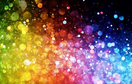 Абстракция с радугой