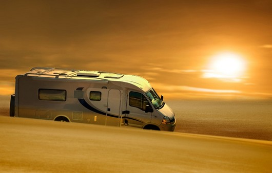 Фургон в пустыне