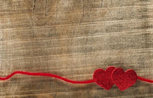 Сердечки из ниток