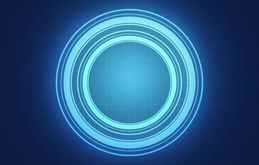 Круг с голубым свечением