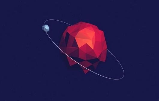 Абстракция со спутником