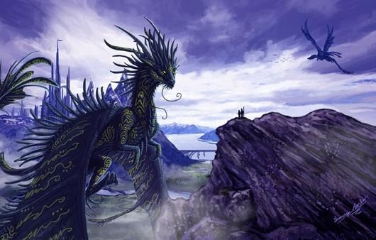 Дракон на утесе