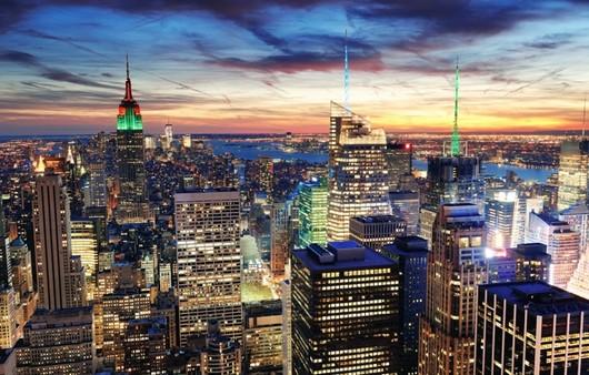 Ночной город New York
