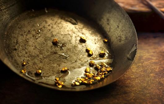 Кусочки золота