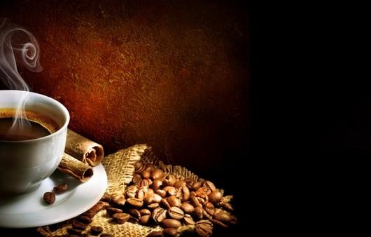 Кофейные зерна и чашка