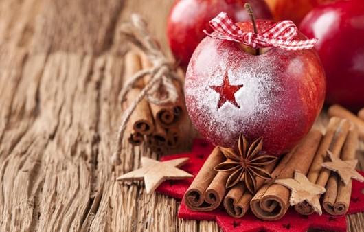 Яблоко с бантиком
