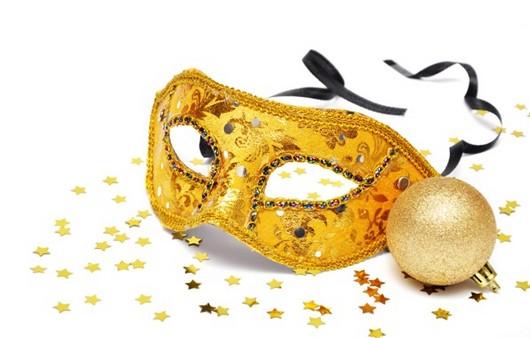 Новогодняя желтая маска