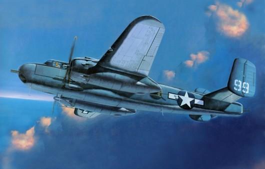 Американский самолет в небе