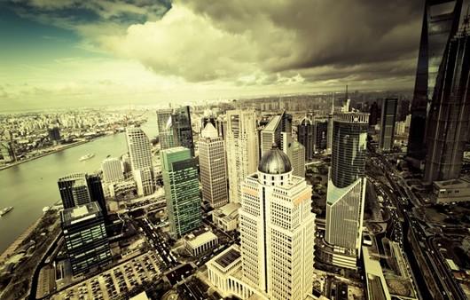 Город с высоты птичьего полета
