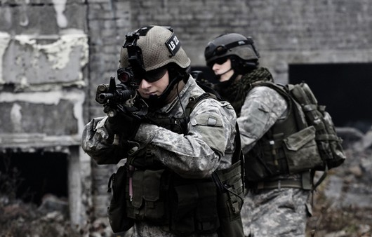 Солдаты в камуфляже