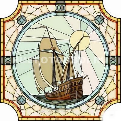 Витраж кораблик