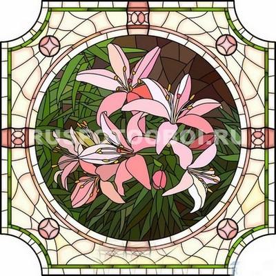 Витраж лилии