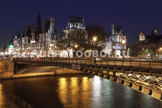 Ночной мост в Париже