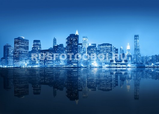 Фотообои Синий город