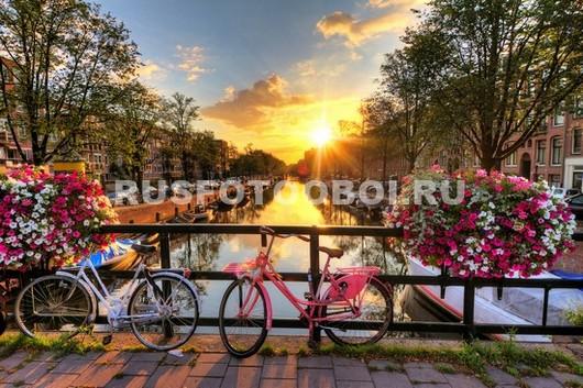 Фотообои Амстердам каналы